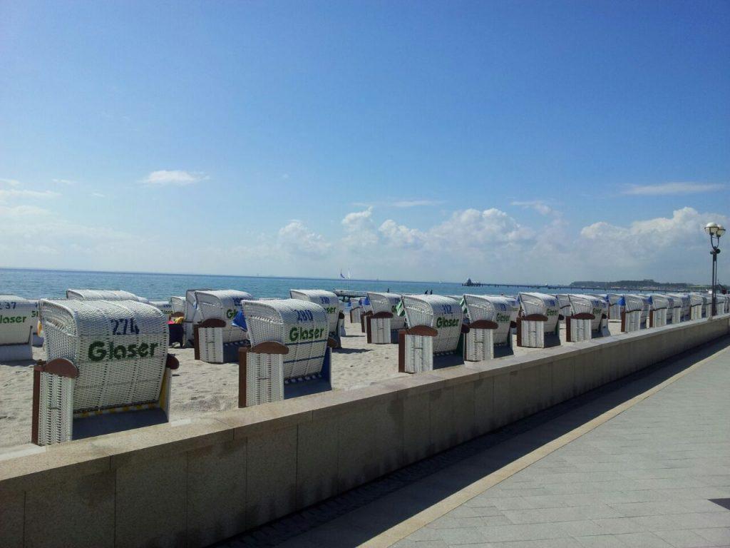 Promenade Grömitz Strandkorb Urlaub Ferien